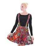 Carpet Orient Pattern Suspender Skater Skirt