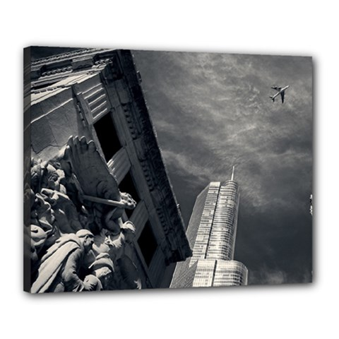 Chicago Skyline Tall Buildings Canvas 20  X 16