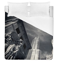Chicago Skyline Tall Buildings Duvet Cover (queen Size) by BangZart