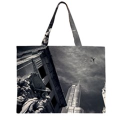 Chicago Skyline Tall Buildings Zipper Large Tote Bag