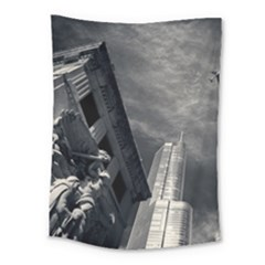 Chicago Skyline Tall Buildings Medium Tapestry