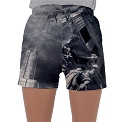 Chicago Skyline Tall Buildings Sleepwear Shorts