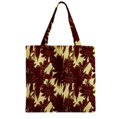 Floral Pattern Background Zipper Grocery Tote Bag by BangZart