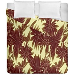 Floral Pattern Background Duvet Cover Double Side (california King Size)