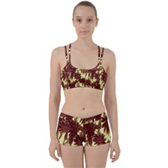 Floral Pattern Background Women s Sports Set