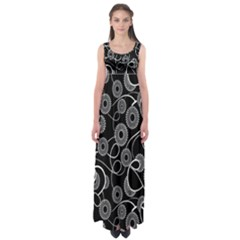 Floral Pattern Background Empire Waist Maxi Dress