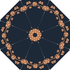 Floral Vintage Royal Frame Pattern Hook Handle Umbrellas (small)