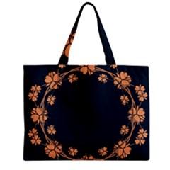 Floral Vintage Royal Frame Pattern Zipper Mini Tote Bag by BangZart