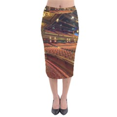 Florida State University Velvet Midi Pencil Skirt by BangZart