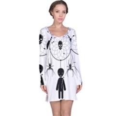 Voodoo Dream Catcher  Long Sleeve Nightdress by Valentinaart