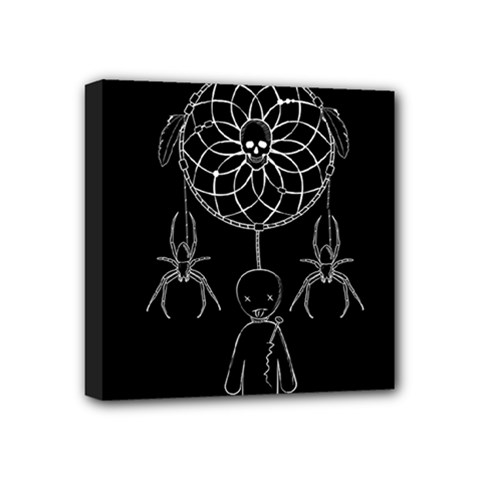 Voodoo Dream Catcher  Mini Canvas 4  X 4  by Valentinaart