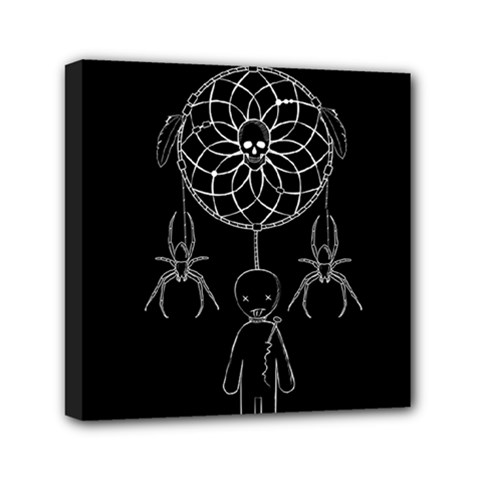 Voodoo Dream Catcher  Mini Canvas 6  X 6  by Valentinaart