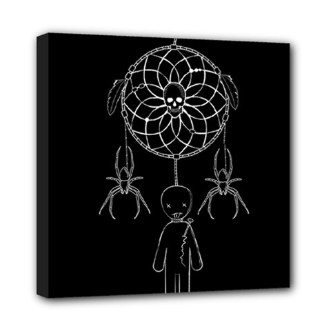 Voodoo Dream Catcher  Mini Canvas 8  X 8  by Valentinaart