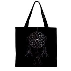 Voodoo Dream Catcher  Zipper Grocery Tote Bag by Valentinaart