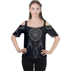 Voodoo Dream Catcher  Cutout Shoulder Tee by Valentinaart