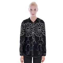 Voodoo Dream Catcher  Womens Long Sleeve Shirt by Valentinaart