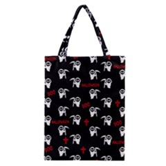 Death Pattern   Halloween Classic Tote Bag by Valentinaart