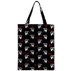 Death Pattern   Halloween Zipper Classic Tote Bag by Valentinaart