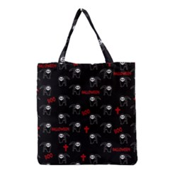 Death Pattern   Halloween Grocery Tote Bag by Valentinaart