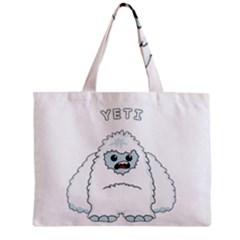 Yeti Zipper Mini Tote Bag by Valentinaart
