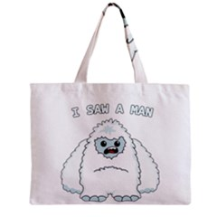 Yeti   I Saw A Man Zipper Mini Tote Bag by Valentinaart