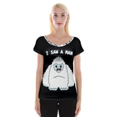 Yeti   I Saw A Man Cap Sleeve Tops by Valentinaart