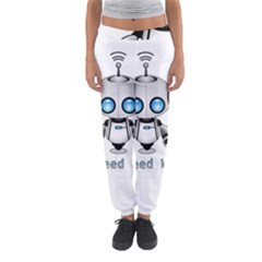 Cute Robot Women s Jogger Sweatpants by Valentinaart