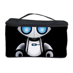 Cute Robot Cosmetic Storage Case by Valentinaart