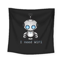 Cute Robot Square Tapestry (small) by Valentinaart