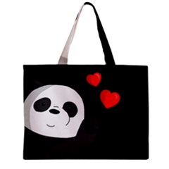 Cute Panda Zipper Mini Tote Bag by Valentinaart