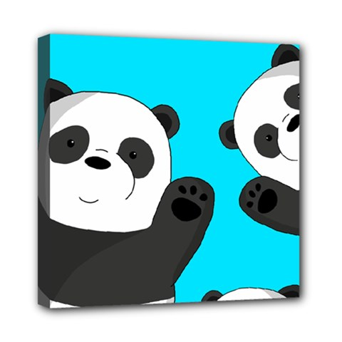 Cute Pandas Mini Canvas 8  X 8  by Valentinaart
