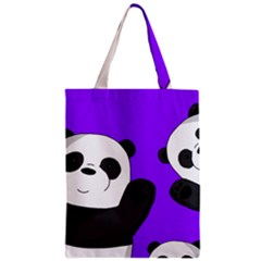 Cute Pandas Zipper Classic Tote Bag by Valentinaart