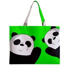 Cute Pandas Zipper Mini Tote Bag by Valentinaart
