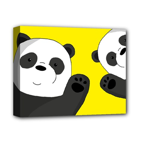 Cute Pandas Deluxe Canvas 14  X 11  by Valentinaart
