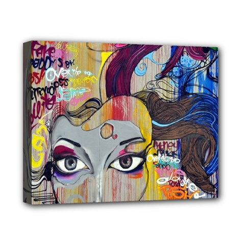 Graffiti Mural Street Art Painting Canvas 10  X 8