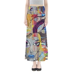 Graffiti Mural Street Art Painting Full Length Maxi Skirt