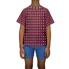 Kaleidoscope Seamless Pattern Kids  Short Sleeve Swimwear