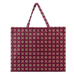 Kaleidoscope Seamless Pattern Zipper Large Tote Bag by BangZart