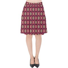 Kaleidoscope Seamless Pattern Velvet High Waist Skirt