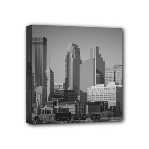 Minneapolis Minnesota Skyline Mini Canvas 4  X 4