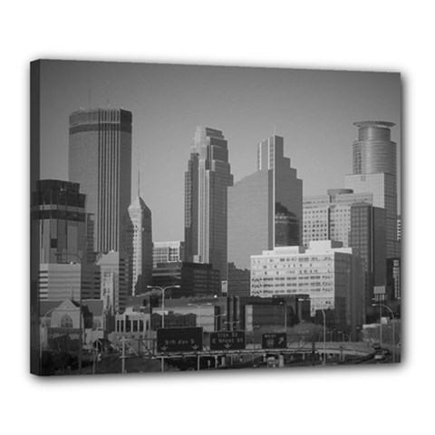 Minneapolis Minnesota Skyline Canvas 20  X 16  by BangZart