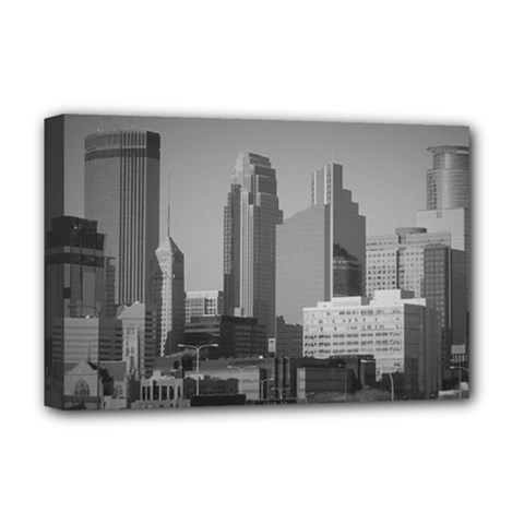Minneapolis Minnesota Skyline Deluxe Canvas 18  X 12   by BangZart
