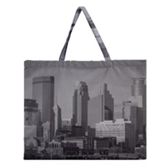 Minneapolis Minnesota Skyline Zipper Large Tote Bag by BangZart