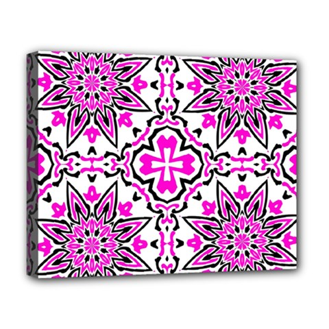 Oriental Pattern Deluxe Canvas 20  X 16