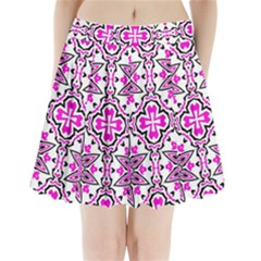 Oriental Pattern Pleated Mini Skirt by BangZart