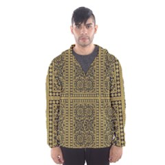 Seamless Pattern Design Texture Hooded Wind Breaker (men) by BangZart
