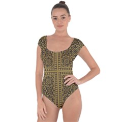 Seamless Pattern Design Texture Short Sleeve Leotard