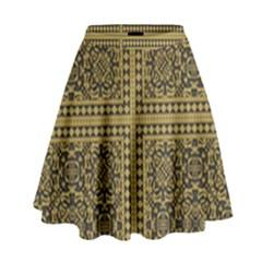 Seamless Pattern Design Texture High Waist Skirt