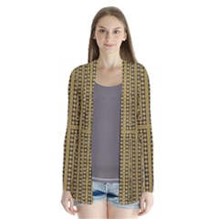 Seamless Pattern Design Texture Drape Collar Cardigan