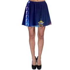 Shanghai Oriental Pearl Tv Tower Skater Skirt